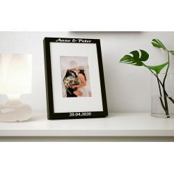 Ribba fotolijst zwart met naam (21x30cm)