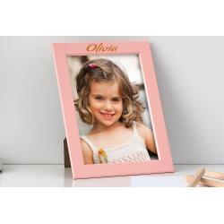 Fotolijst met naam (roze 10x15cm)
