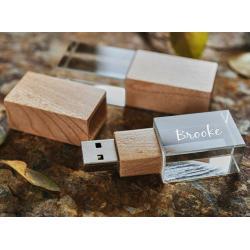Glas hout usb stick 3D bedrukken 16GB