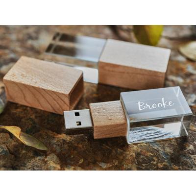 Glas hout usb stick 3D bedrukken 32GB