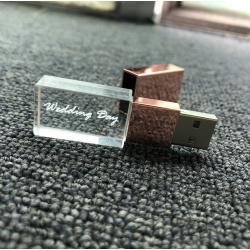 Kristal metaal doppen usb stick met naam/foto 3D bedrukken 8GB