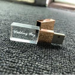 Kristal metaal usb stick met naam/foto 3D bedrukken 16GB