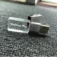 Kristal metaal usb stick met naam/foto 3D bedrukken 32GB