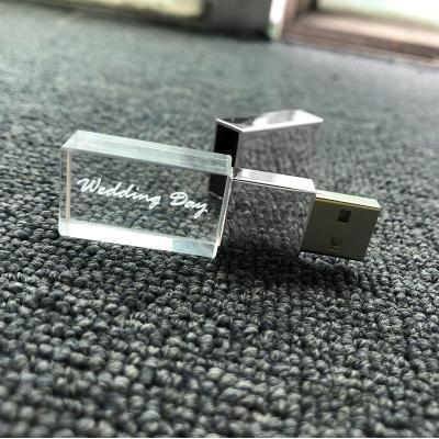 Kristal goud usb stick met naam/foto 3D bedrukken