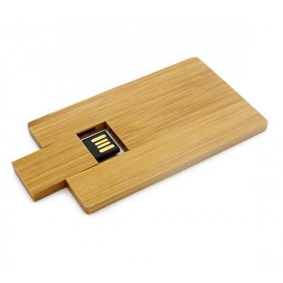Hout creditcard usb stick 64gb