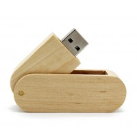 Hout Twister USB stick. 64GB