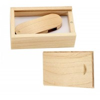 Hout twister usb stick in hout doos 32GB