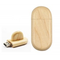 Hout met dop usb stick. 64GB