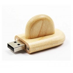 Hout met dop usb stick. 32GB