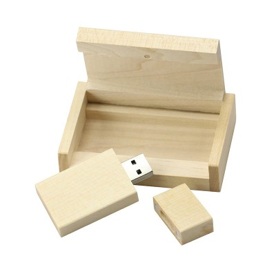 Hout usb stick in hout doos 16gb
