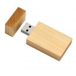 Rechthoek hout usb stick 32gb