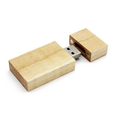 Rechthoek hout usb stick