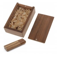 Walnoot hout usb stick in hout doos 32GB