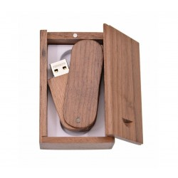 Walnoot twister hout usb stick in hout doos 32GB