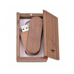Walnoot twister hout usb stick in hout doos 64GB