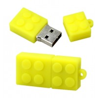 Lego usb stick. 4gb Geel