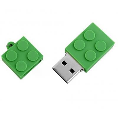 Brick usb stick 4gb groen
