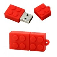 Lego usb stick. 8gb rood