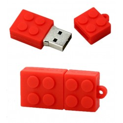 Lego usb stick. 4gb rood