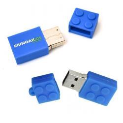 Lego usb stick met logo. Vanaf 5 stuks.Blauw