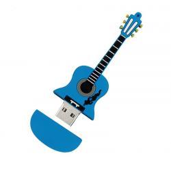 Elektrische gitaar usb stick. Blauw. 16gb
