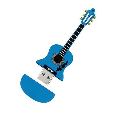 Elektrische gitaar usb stick Blauw 64gb