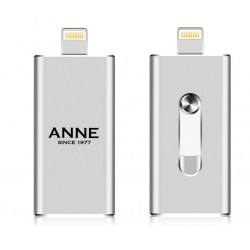 iPhone iPad usb stick met naam 64GB zilver