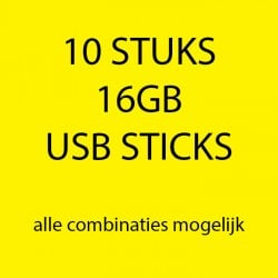 10 stuks 16gb USB sticks