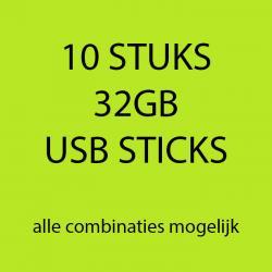 10 stuks 32gb USB sticks