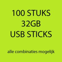 100 stuks 32gb USB sticks