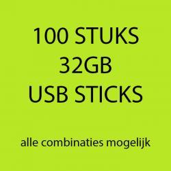 100 stuks 32gb USB sticks