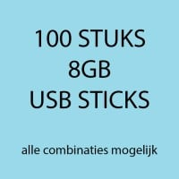 100 stuks 8gb USB sticks