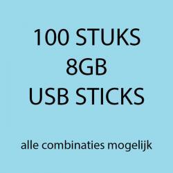 100 stuks 8gb USB sticks