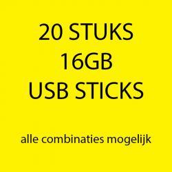 20 stuks 16gb USB sticks