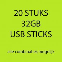 20 stuks 32gb USB sticks