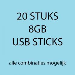 20 stuks 8gb USB sticks