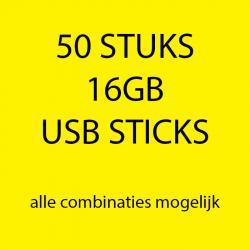 50 stuks 16gb USB sticks