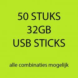 50 stuks 32gb USB sticks