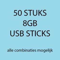 50 stuks 8gb USB sticks