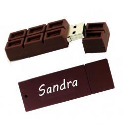 Chocolade usb stick bedrukken met naam of tekst. 16gb