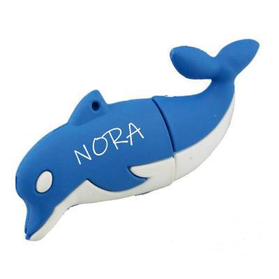 Dolfijn usb stick met naam bedrukken