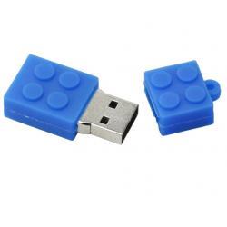 Kadotips Lego vorm usb stick. 2gb blauw
